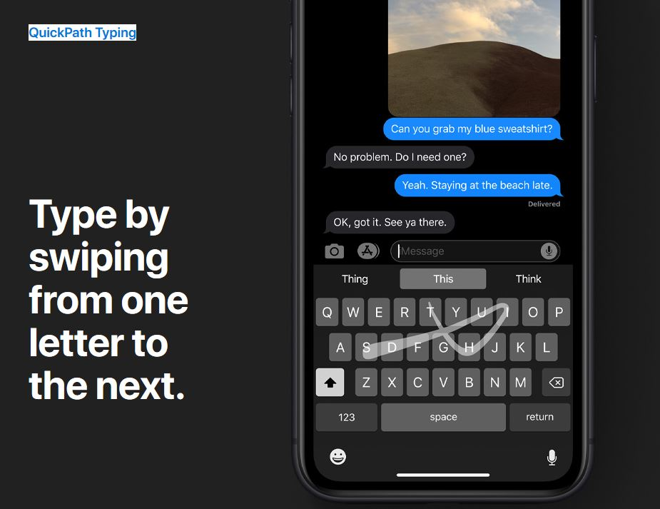 Apple takes on SwiftKey keyboard app with the new QuickPath typing feature  - MSPoweruser