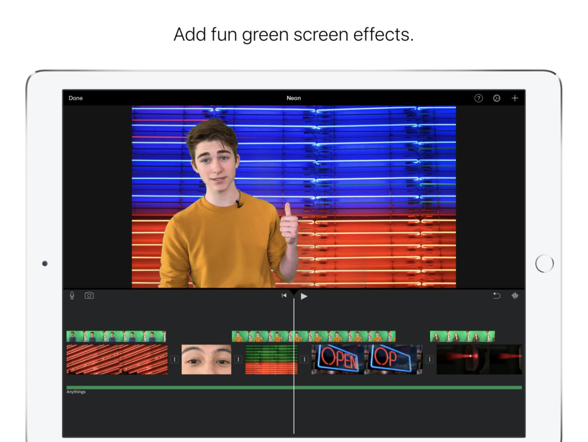 photo of Apple adds green screen effect and more to iMovie app for iOS devices image