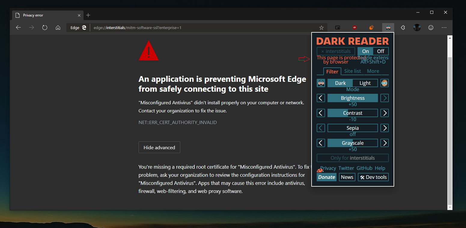 Dark mode in Microsoft Edge is now more consistent 9
