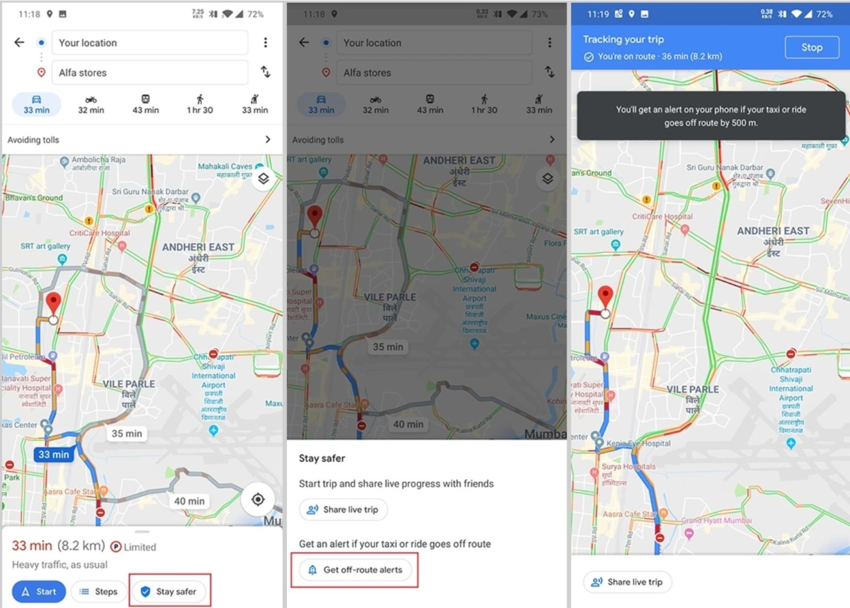 Google tests new safety features for Google Maps 2