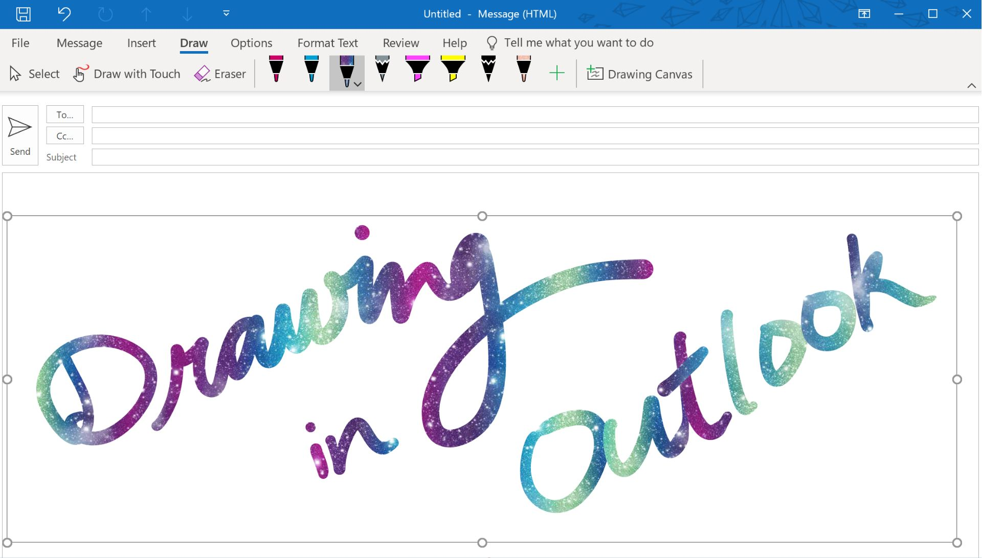 Outlook desktop app for Windows now allows you to ink in your emails