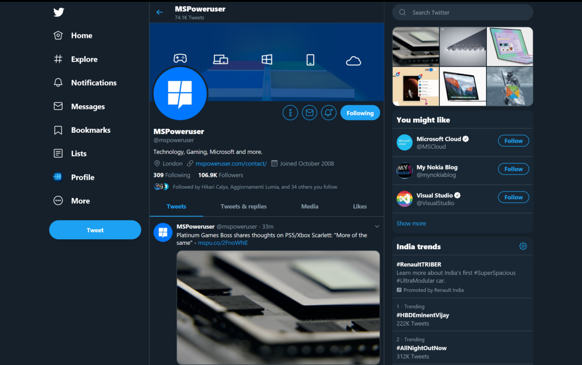 Twitter PWA gets updated with new features and improvements - MSPoweruser