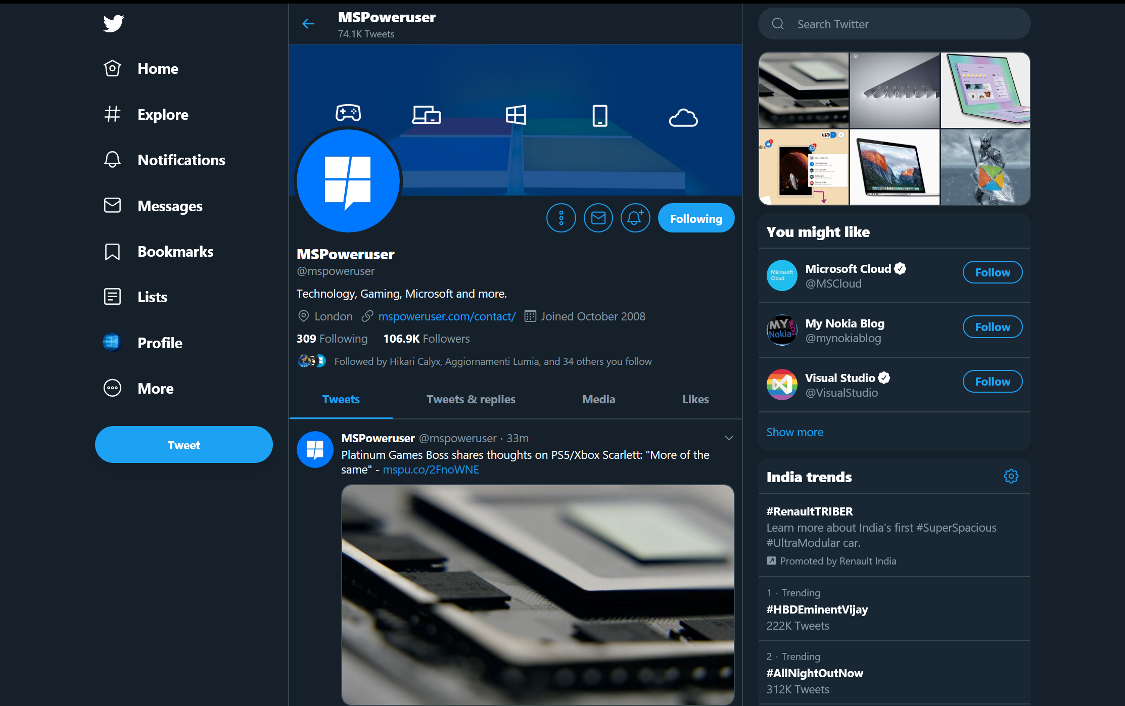 Twitter PWA's navigation bar now appears at the left, for everyone 1
