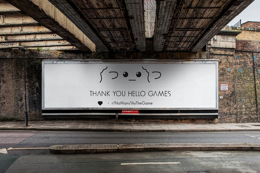 No Man's Sky fans are buying a billboard to thank its developer