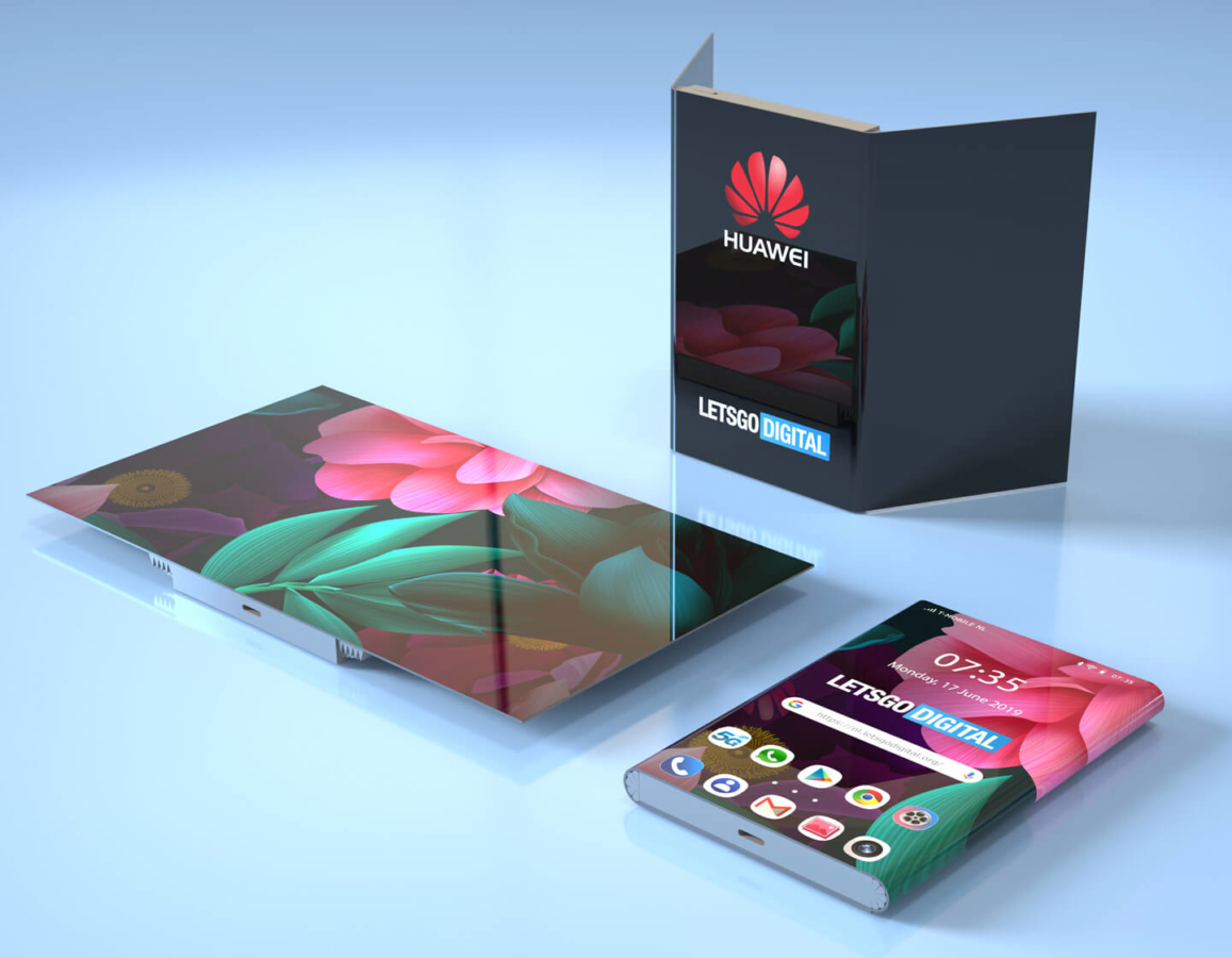 Huawei found a way to make the tri-screen dual-fold smartphone look good (patent) 2
