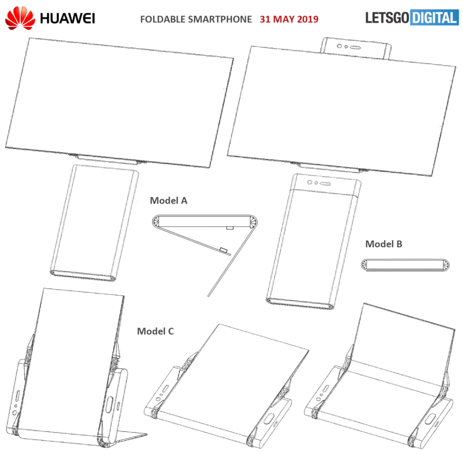 Huawei found a way to make the tri-screen dual-fold smartphone look good (patent) 3
