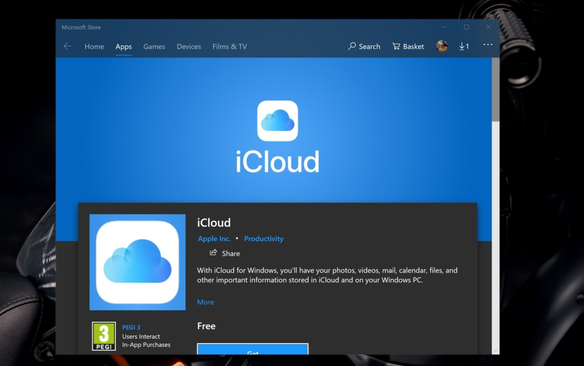 Image result for Apple iCloud App for Windows 10 Now Available From Microsoft Store