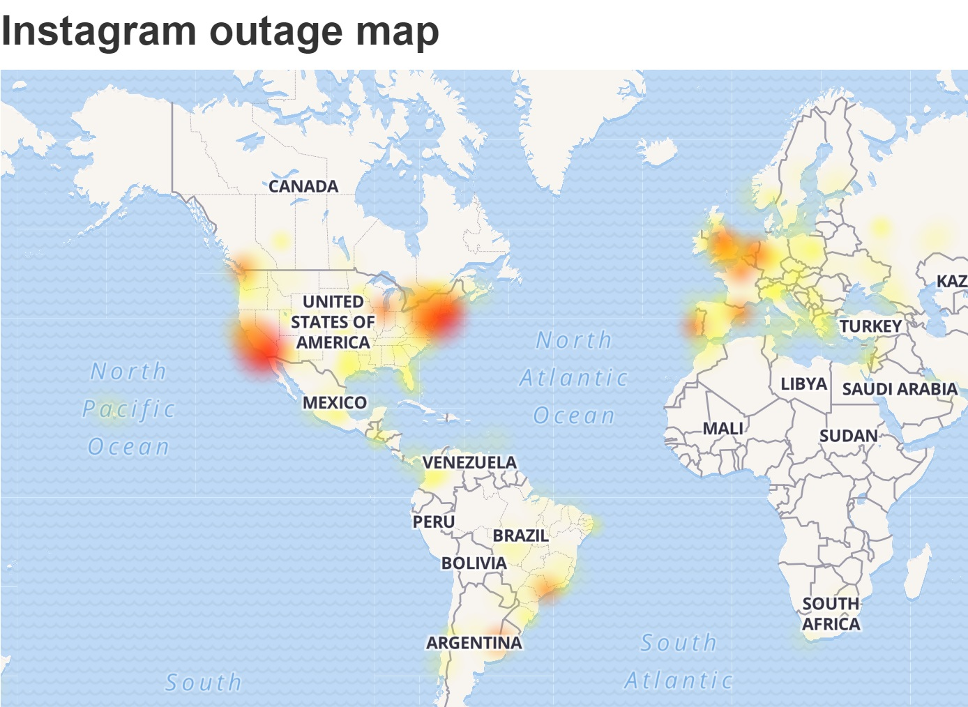 Instagram outage spreads across the world