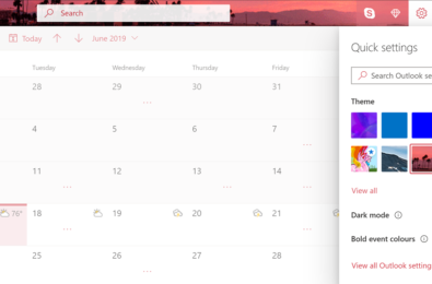 Outlook.com updated with new colourful Themes 10