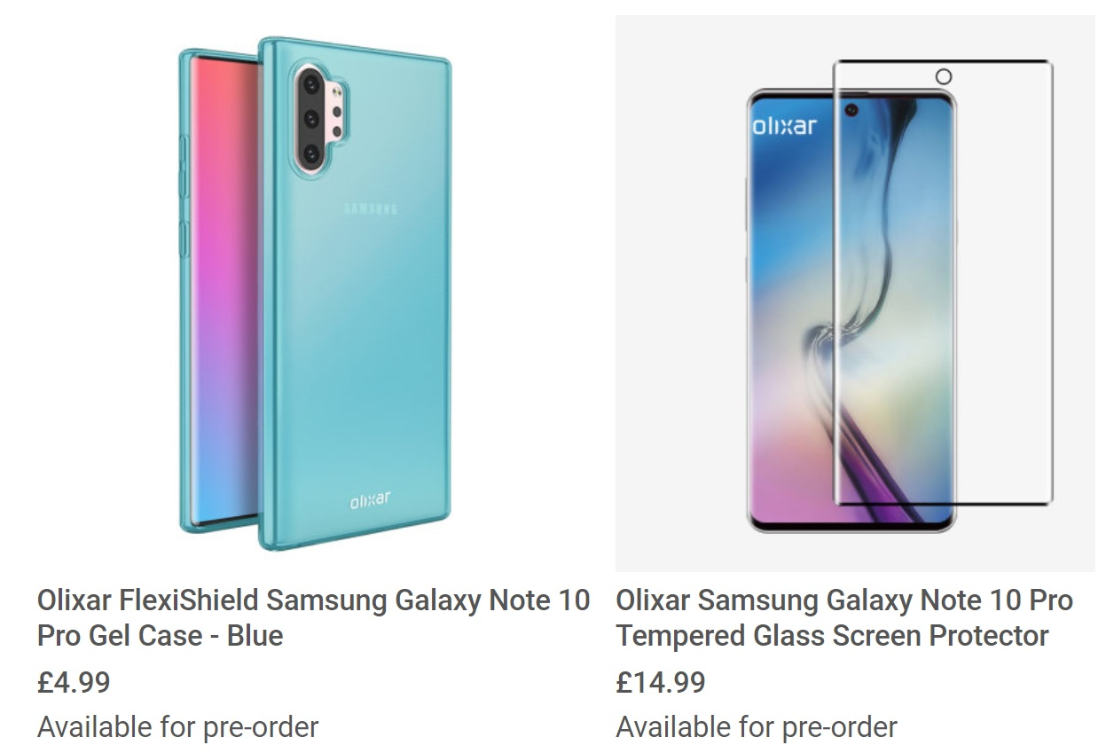 Samsung Galaxy Note 10 Pro cases confirm super-thin bezels, Sound on