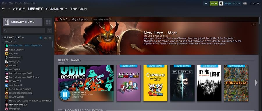 Steam's sleek library update now has a release date