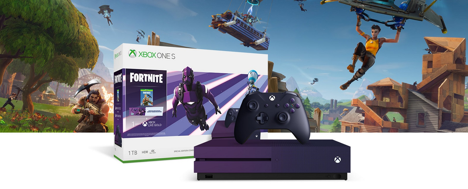 the fortnite battle royale special edition xbox one s