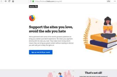 Mozilla wants to provide ad-free internet for $5/month 17