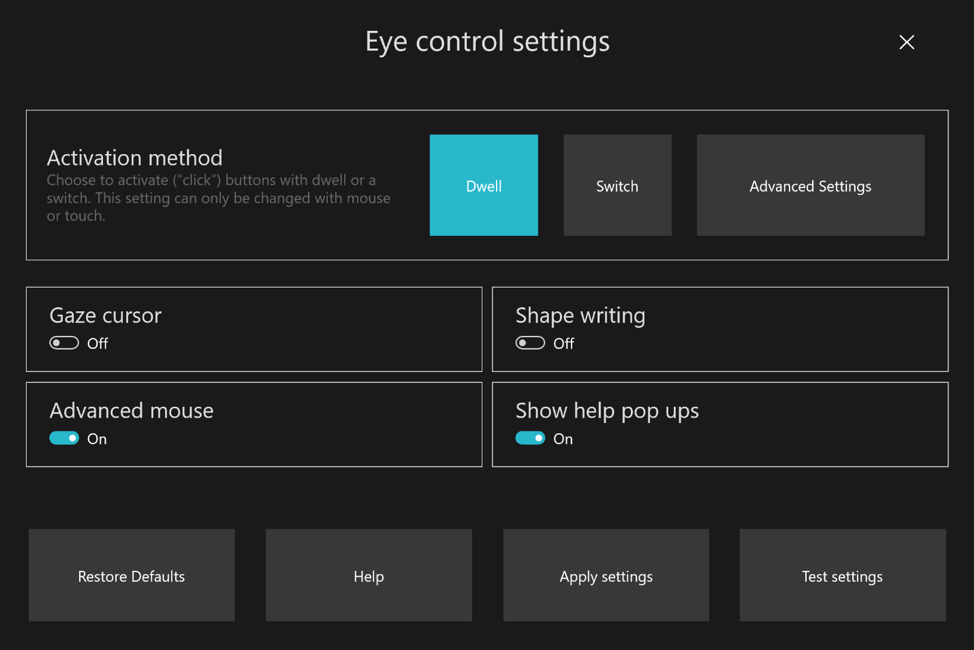 Microsoft releases Windows 10 Build 18932 with Eye Control