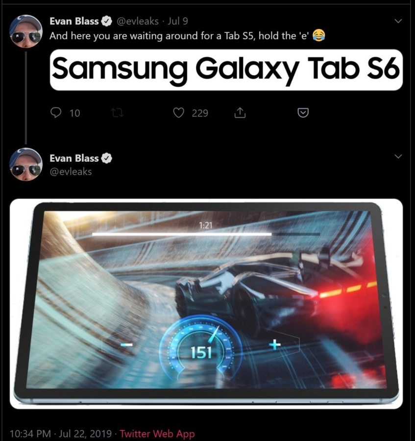 Samsung's Galaxy Tab S6 gets a high quality render leaked