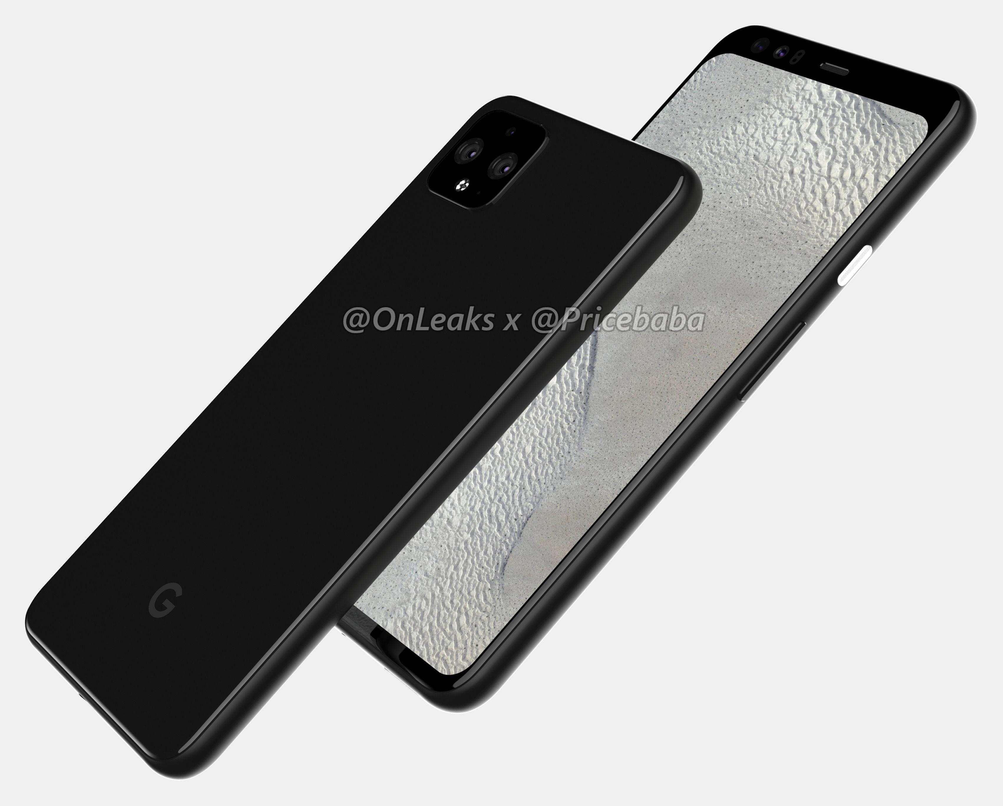 google pixel 4 xl renders suggest in