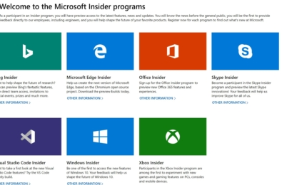 Microsoft's new Insider webpage is the ultimate one-stop shop for all Insiders 8