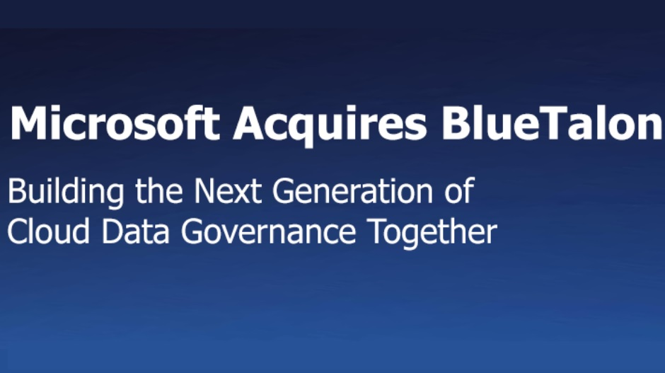 Microsoft acquires BlueTalon, a leading provider of data
