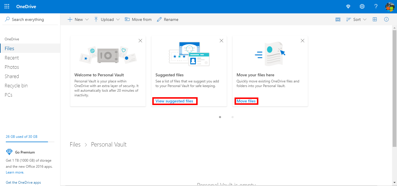 Microsoft is rolling out doubled storage, Personal Vault for