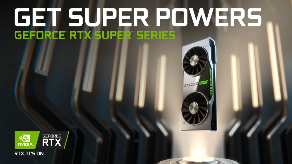 An image of the new RTX Super cards