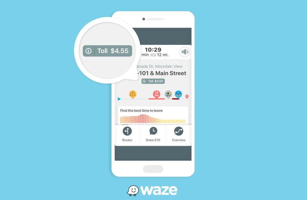 Waze tells you how much you'll pay at tolls on your route
