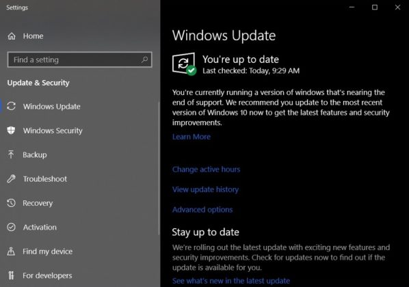 Windows 10 May 2019 Update blocked on PCs with updated Intel