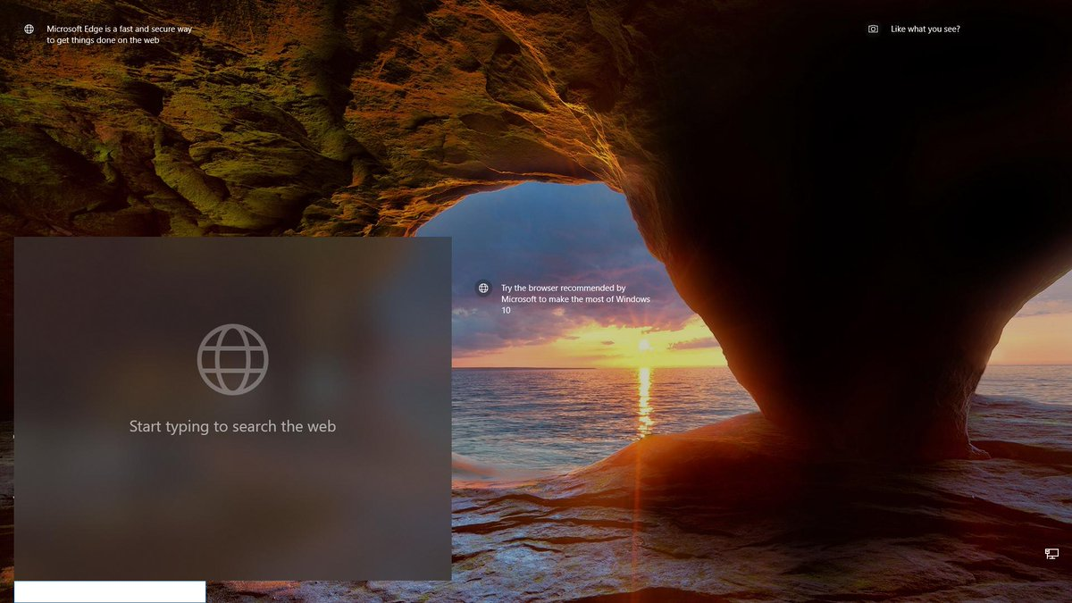 Microsoft is testing an above-lock-screen search box for