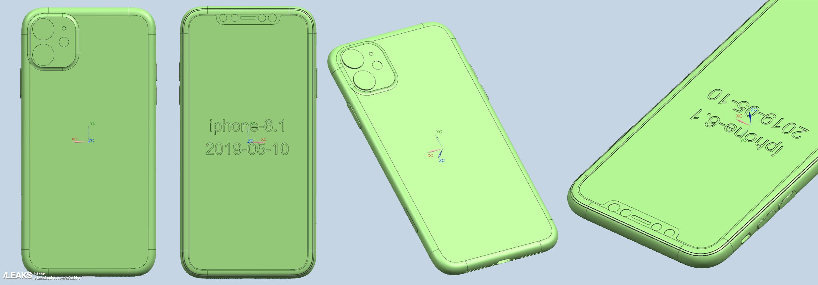 New leaked iPhone 11 renders show the rear camera design 3