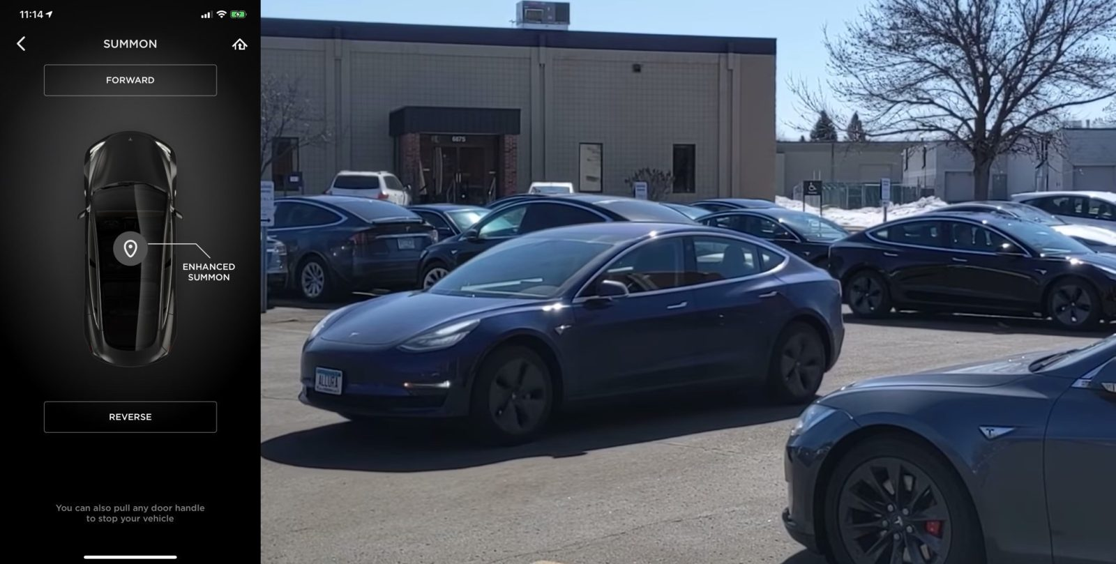 Watch Tesla's much improved driverless Enhanced Summons in action