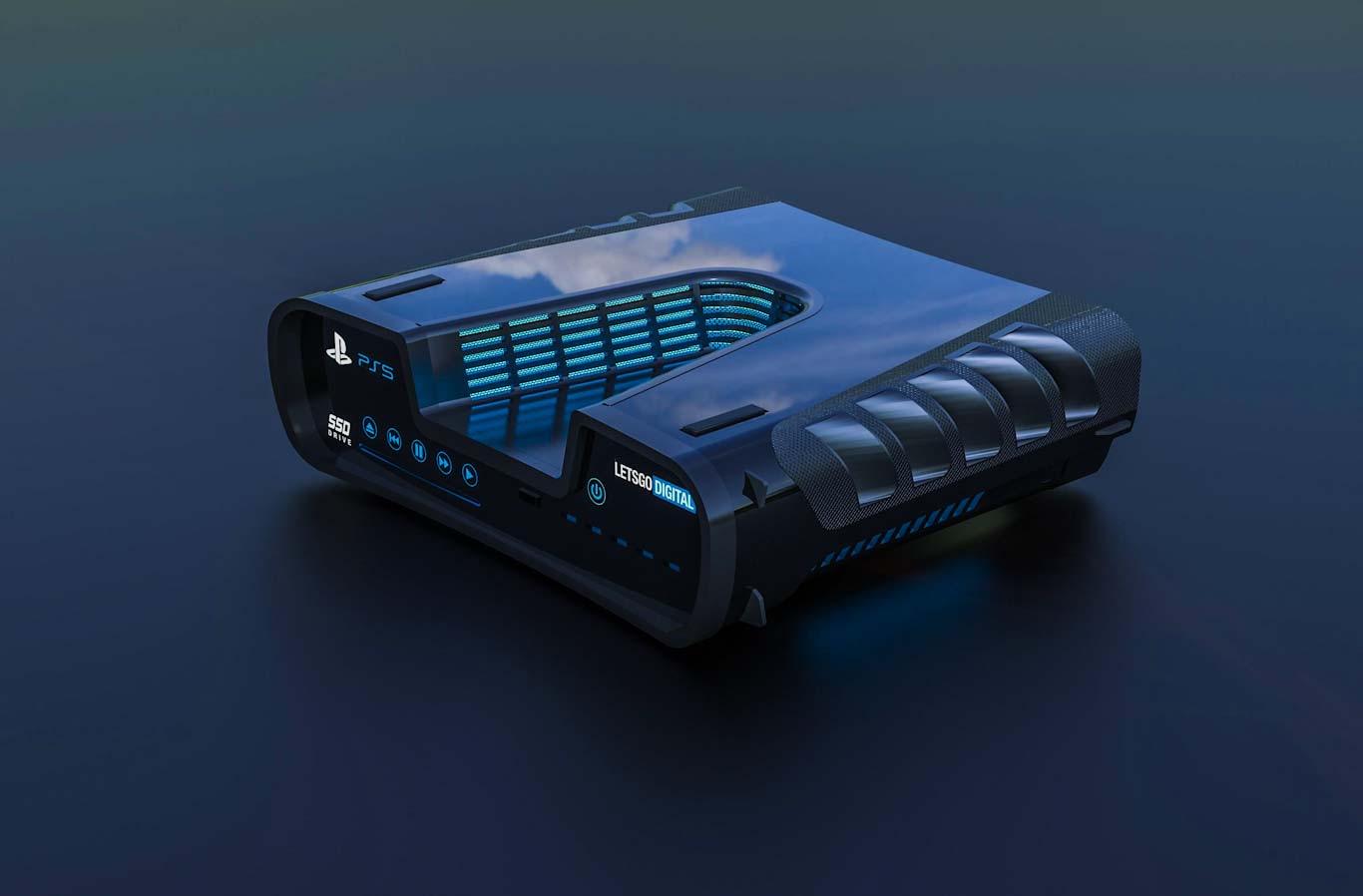 Bizarre PS5 devkit patent gets a cool sci-fi 3D render 3