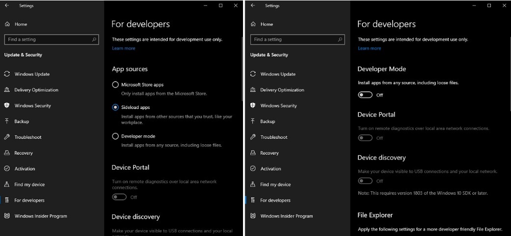 Sideloading apps in Windows 10 20H1 will be hassle-free 1