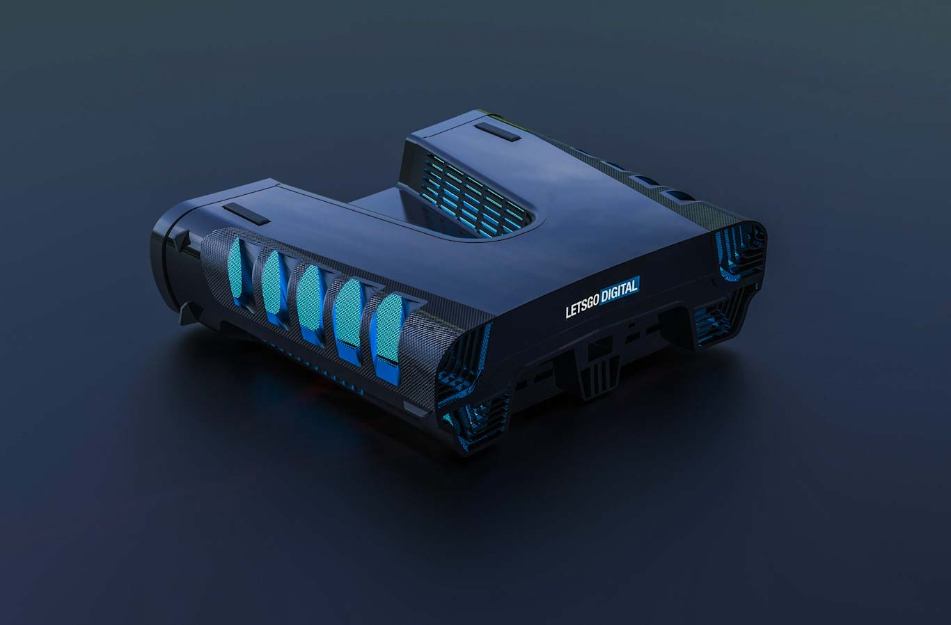 Bizarre PS5 devkit patent gets a cool sci-fi 3D render 2