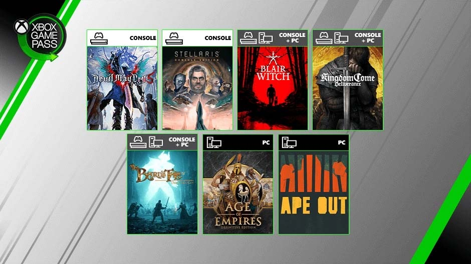 Devil May Cry 5, Age of Empires and more coming to Xbox Game Pass