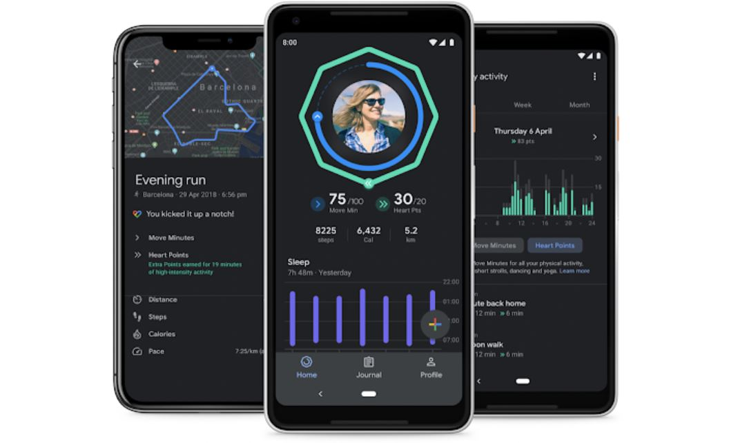 The Google Fit app updated with improved sleep insights and dark theme