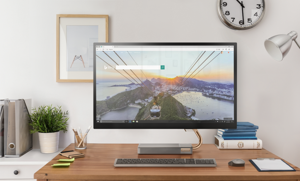 The design of Lenovo's latest all-in-one Windows PC emulates a Cypress tree - MSPoweruser thumbnail
