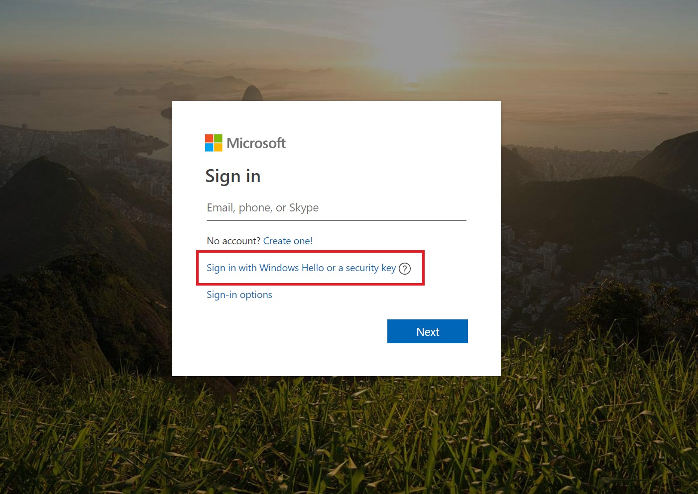 FYI: You can log into your Microsoft Account using Windows