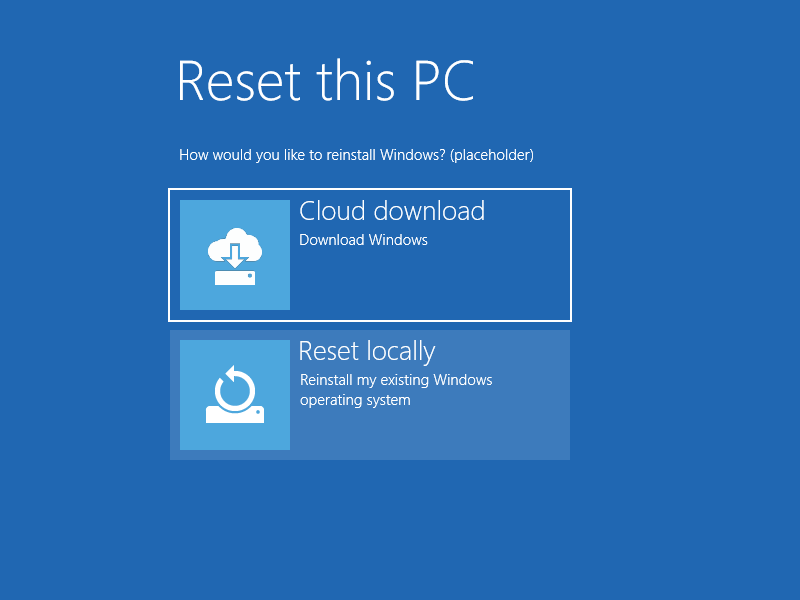 More detail on Microsoft's 'new' Windows 10 Cloud Reinstall feature