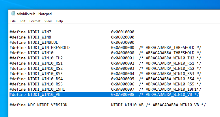 Confirmed - the next major version of Windows 10 to be code-named Vibranium 1