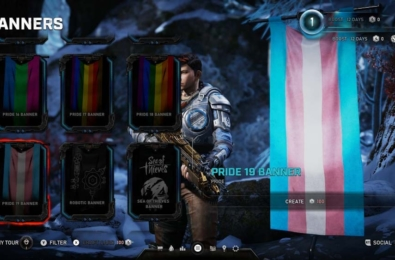 Gears 5 features a massive collection of LGBT flags for multilayer modes 2