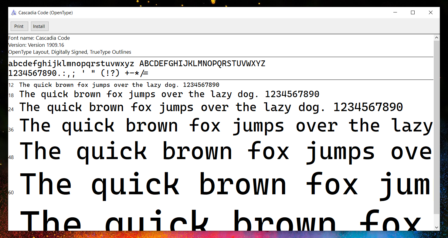 Microsoft's new Cascadia Code font is designed with developers in mind