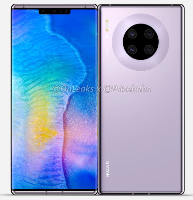 Renders of Huawei Mate 30 Pro flagship device leaked 2