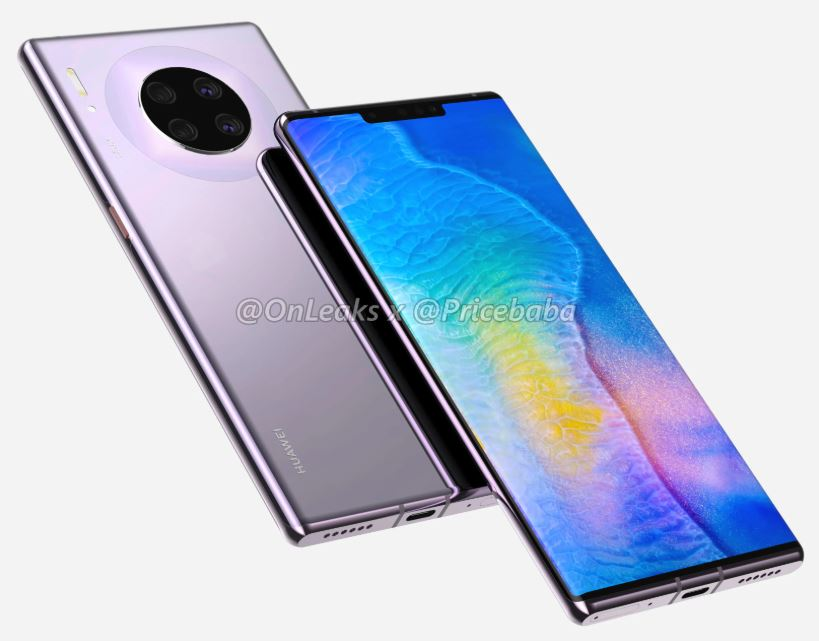 Renders of Huawei Mate 30 Pro flagship device leaked 1