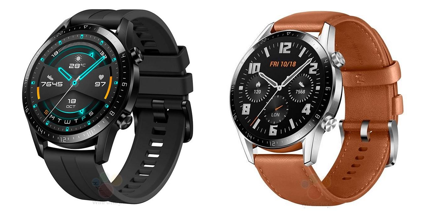 Huawei Watch GT2 leaks with larger screen, smaller bezel
