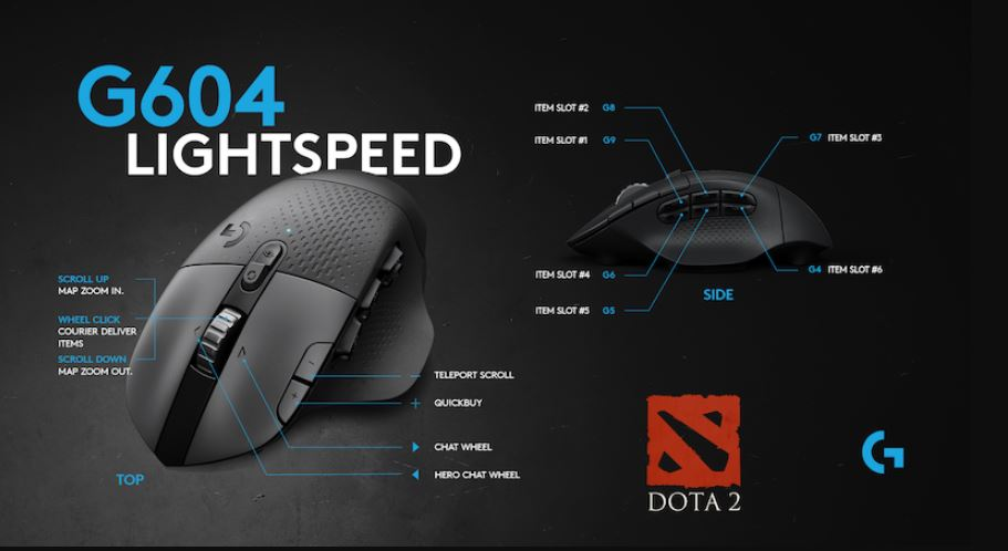 Logitech announces new wireless gaming mouse targeting Dota 2 players