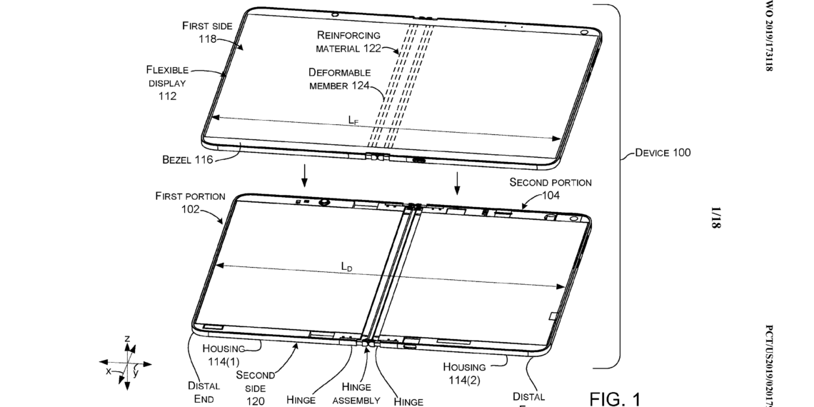 Microsoft files a new patent for its foldbale Windows 10 PC just a few days before the hardware event