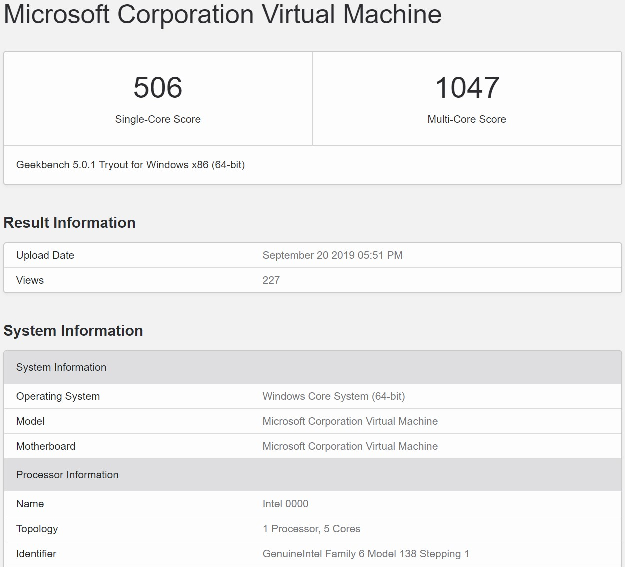 Microsoft's upcoming Windows Core OS visits Geekbench site 1