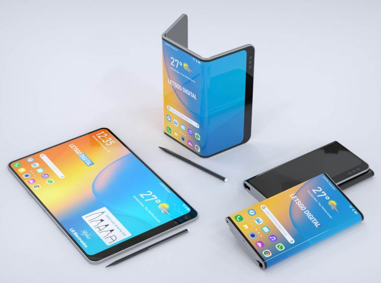 New patent shows LG's upcoming foldable phone with stylus 4