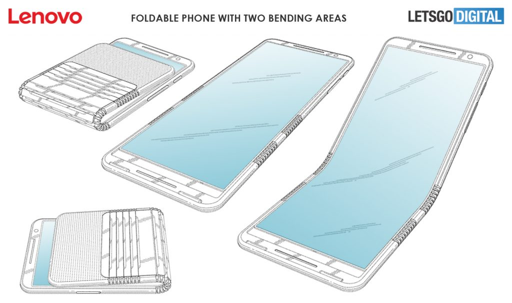 "Lenovo publishes patent for double fold ""clamshell"" smartphone 1"