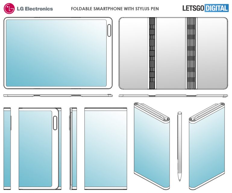 New patent shows LG's upcoming foldable phone with stylus 1