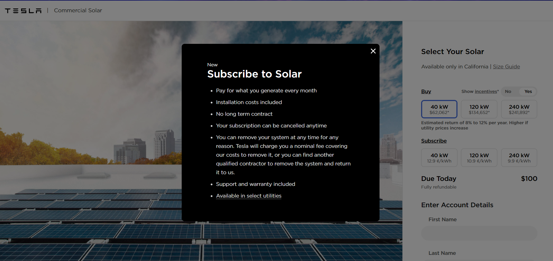 Tesla's new simplified solar offering means you can purchase a solar power system with Apple Pay in 30 seconds